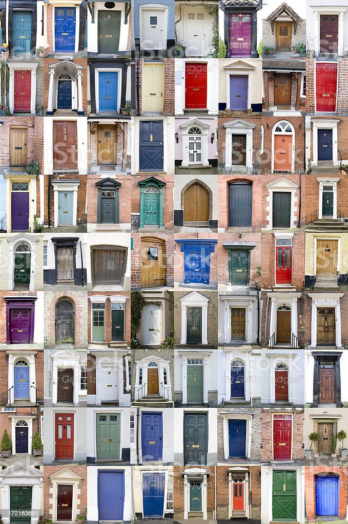 Seventy-Two Doors - Royalty-free 18th Century Style Stock Photo