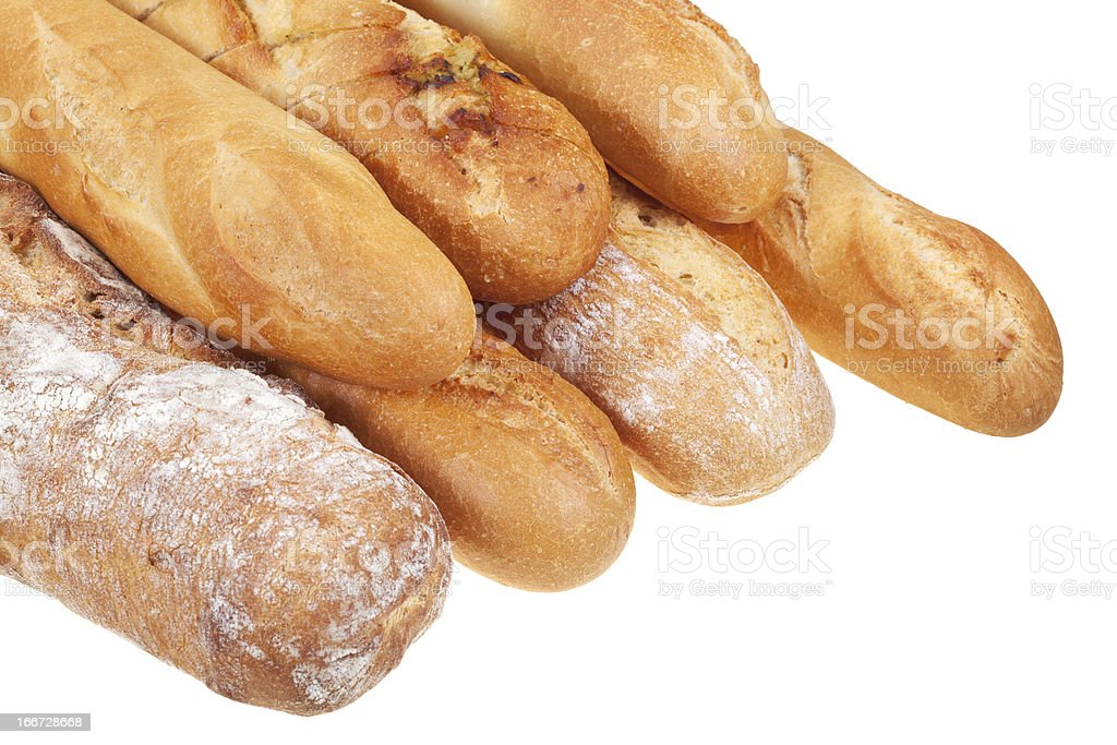 severa baked loaves of bread royalty-free stock photo