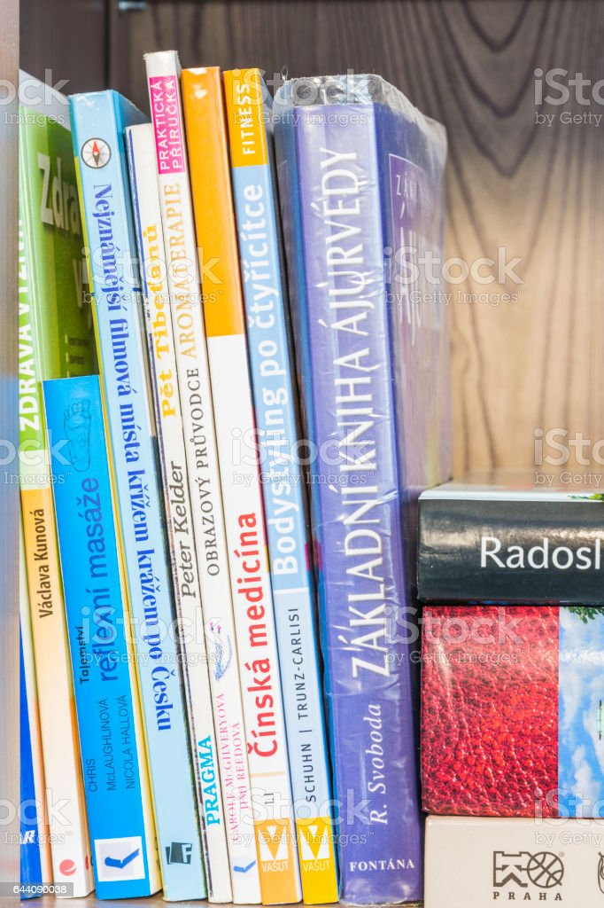 Several books stock photo
