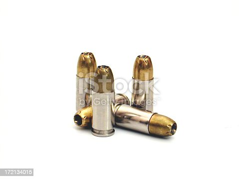 several 9mm hollow point bullets