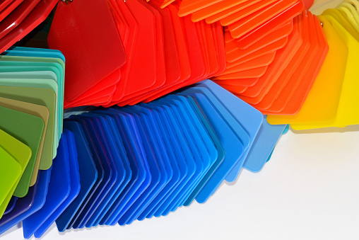 several colour samples for plastic industrie
