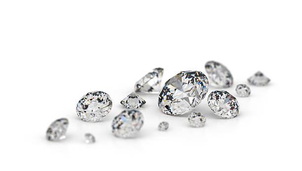varios diamantes. - brillante fotografías e imágenes de stock