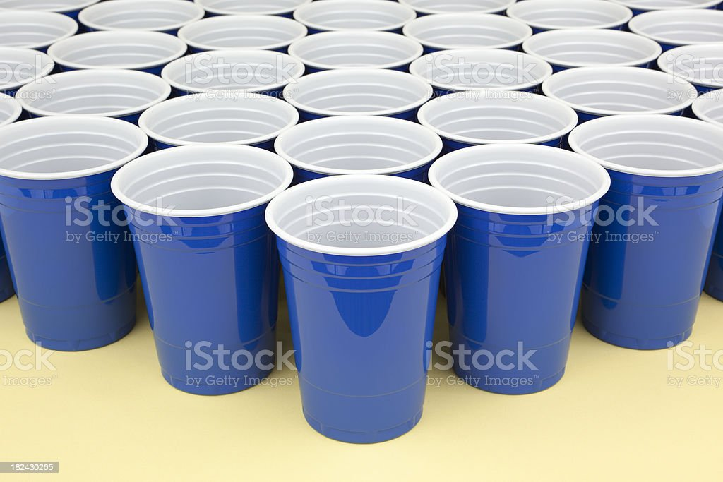 Several Disposable Cups royalty-free stock photo