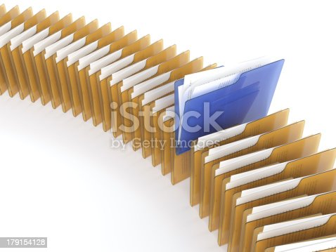 462138083 istock photo Several folders of gold and blue with files 179154128