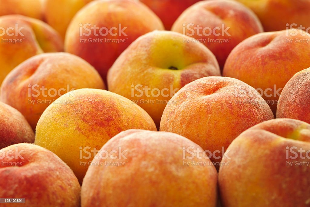 Several fresh peaches background royalty-free stock photo