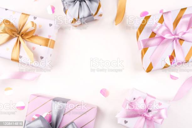 Several gift boxes with bows and confetti on a white background picture id1208414816?b=1&k=6&m=1208414816&s=612x612&h=bulj3jrbz m8oepy3icdbecxagflzbwnen5k2 bg1ve=
