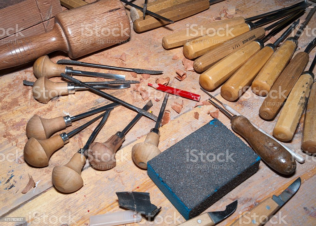 several gouges royalty-free stock photo