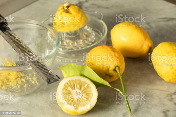 Several Menton Lemon Grater And Lemons Zest Stock Photo - Download Image Now