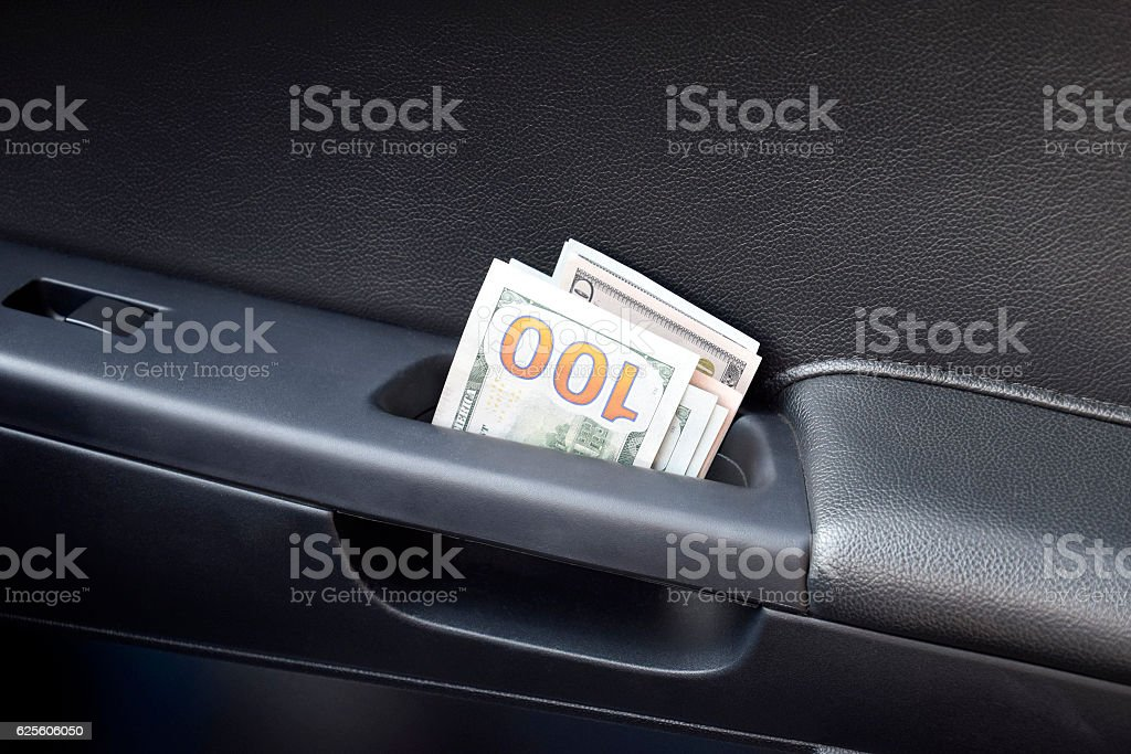 Several notes of US dollars stock photo