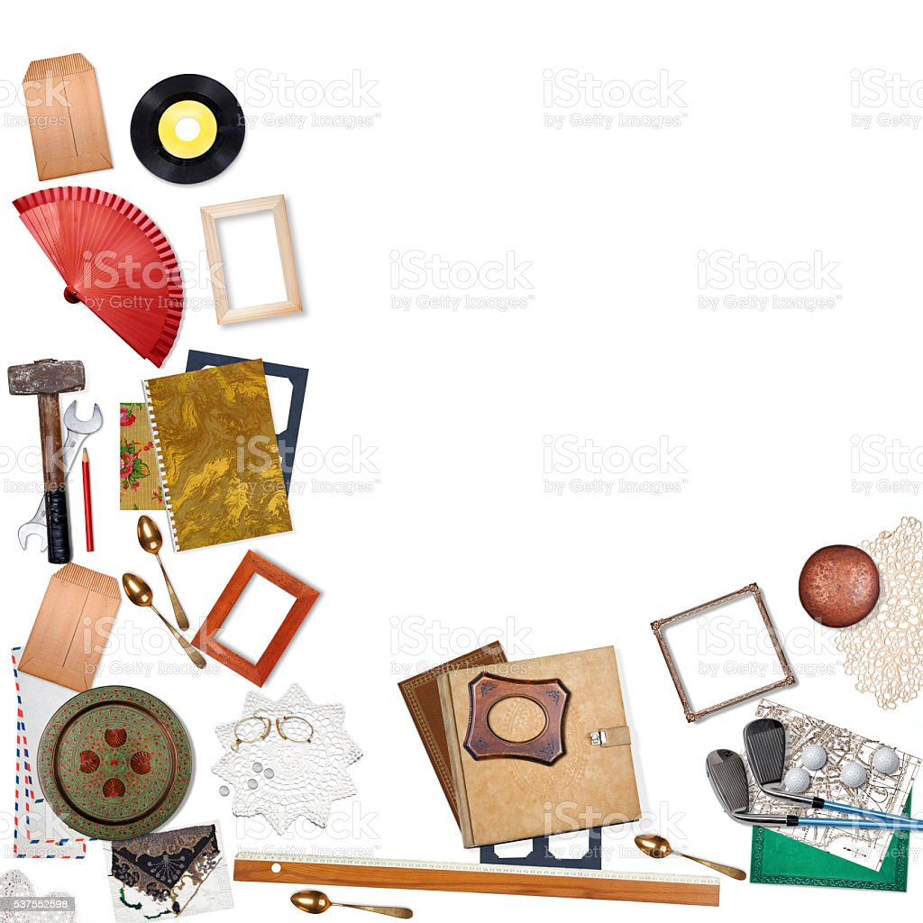 Several objects - sell or buy concept stock photo