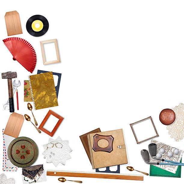 mehrere gegenstände verkaufen oder konsumieren konzept - besteck günstig stock-fotos und bilder