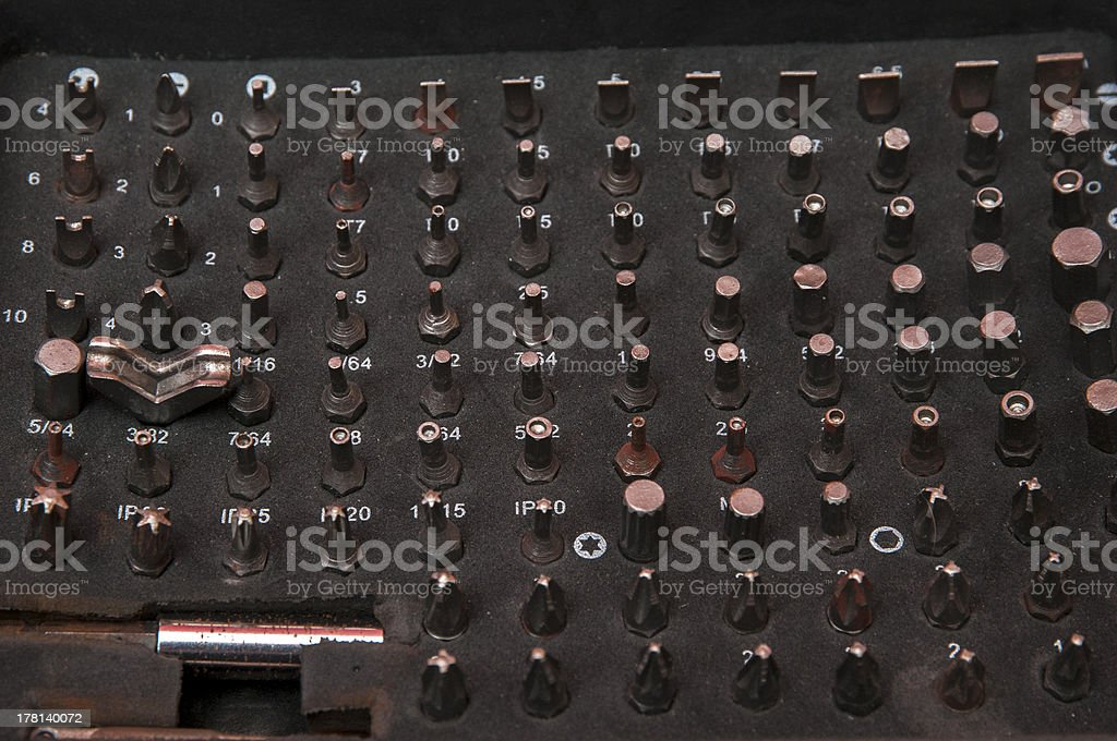 several screws royalty-free stock photo