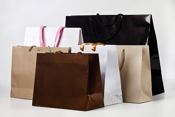 Several shopping bags. Several shopping bags. medium group of objects stock pictures, royalty-free photos & images