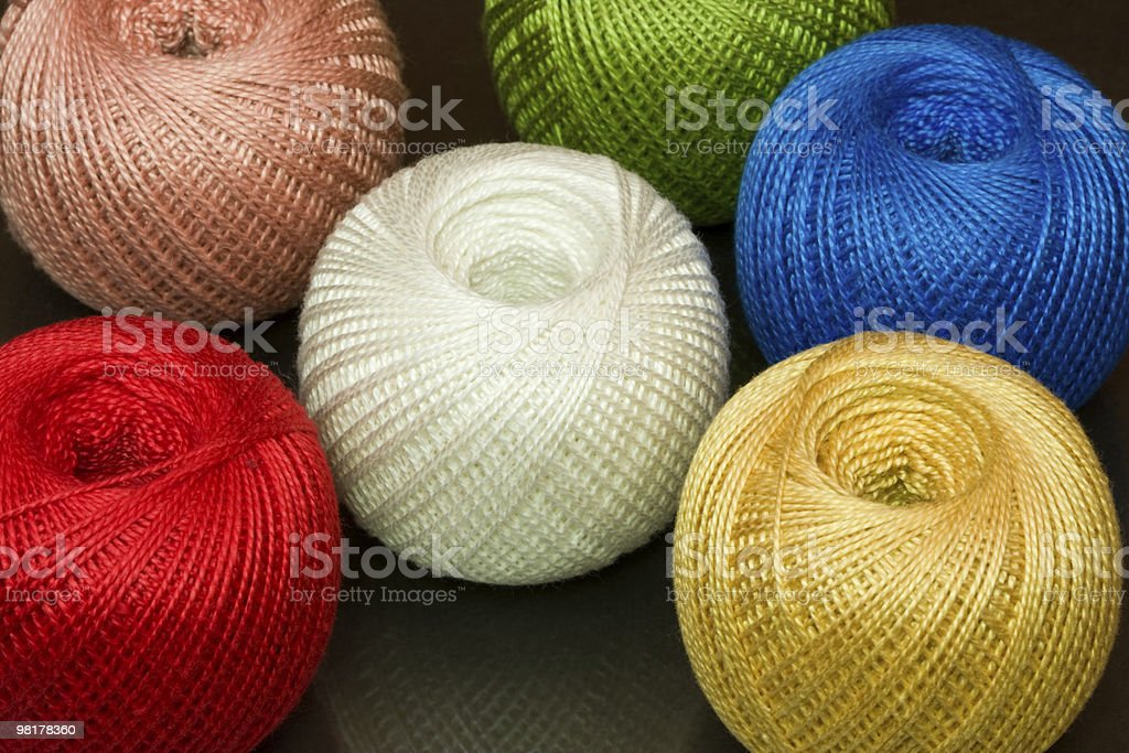 Several spools of thread. royalty-free stock photo