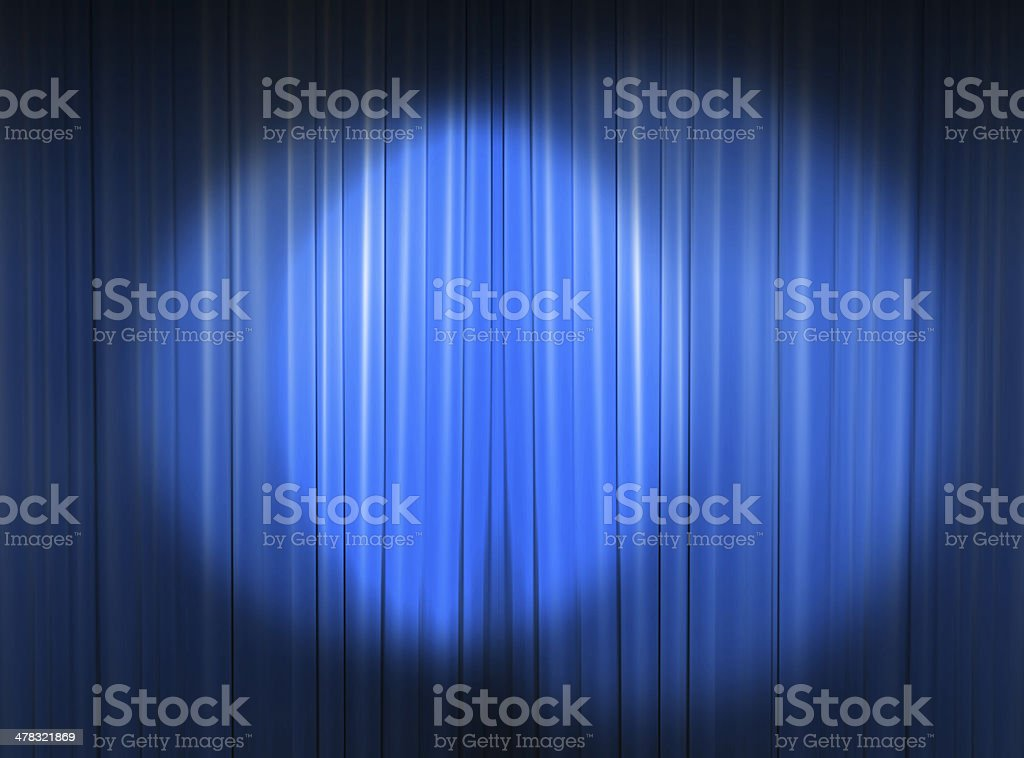 Several spotlights on the curtain stock photo