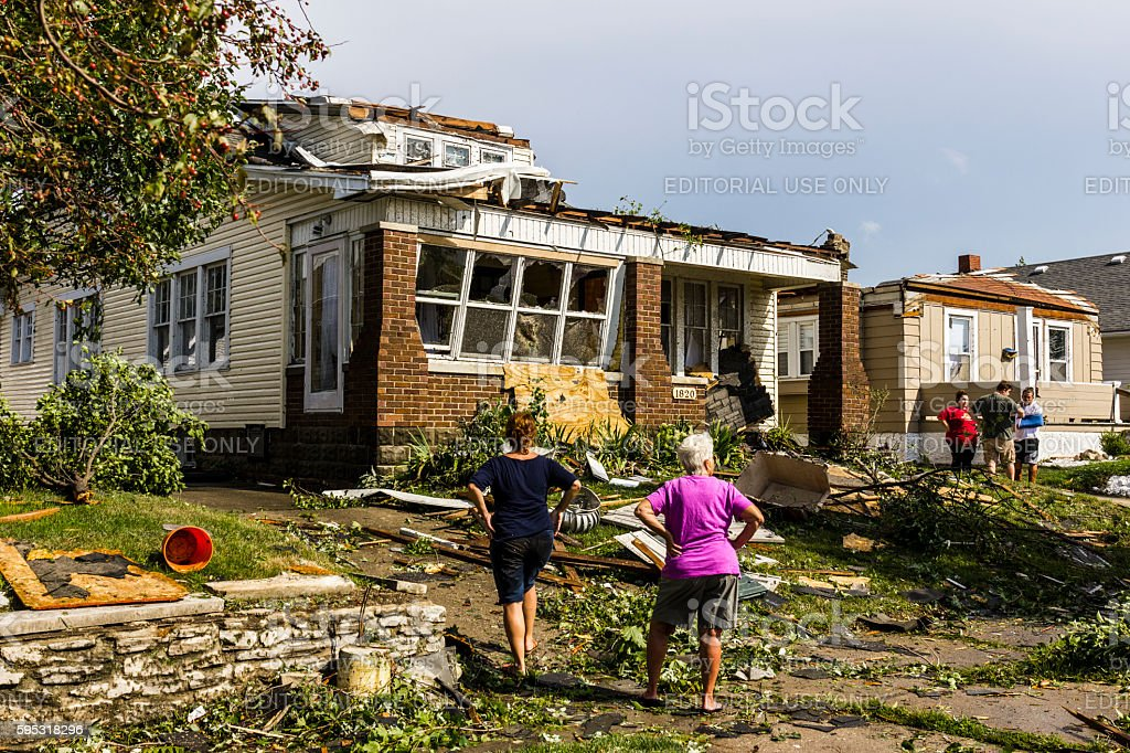 Several tornadoes struck causing millions of dollars in damage 19 stock photo