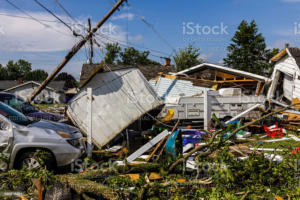 Several tornadoes struck causing millions of dollars in damage 23 stock photo