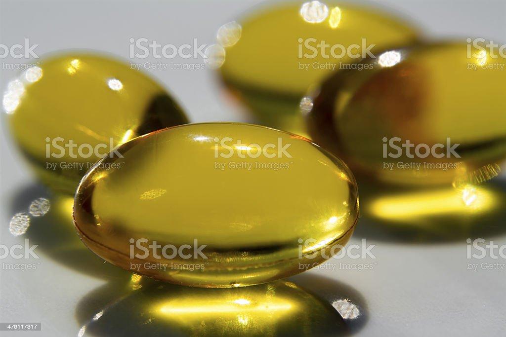 Several Yellow Pills royalty-free stock photo