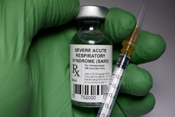 severe acute respiratory syndrome immunization - sars foto e immagini stock