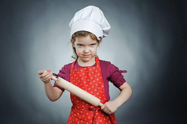 Severe chef stock photo