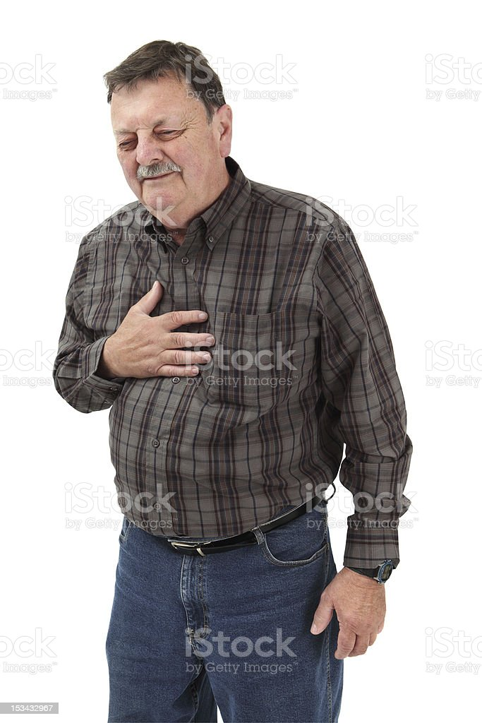 Severe chest pain royalty-free stock photo