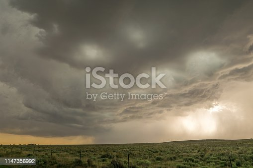 1039163636 istock photo A severe, dramatic looking thunderstorm rumbles close to Black Mesa Nature Preserve at the border of Oklahoma and New Mexico. 1147356992