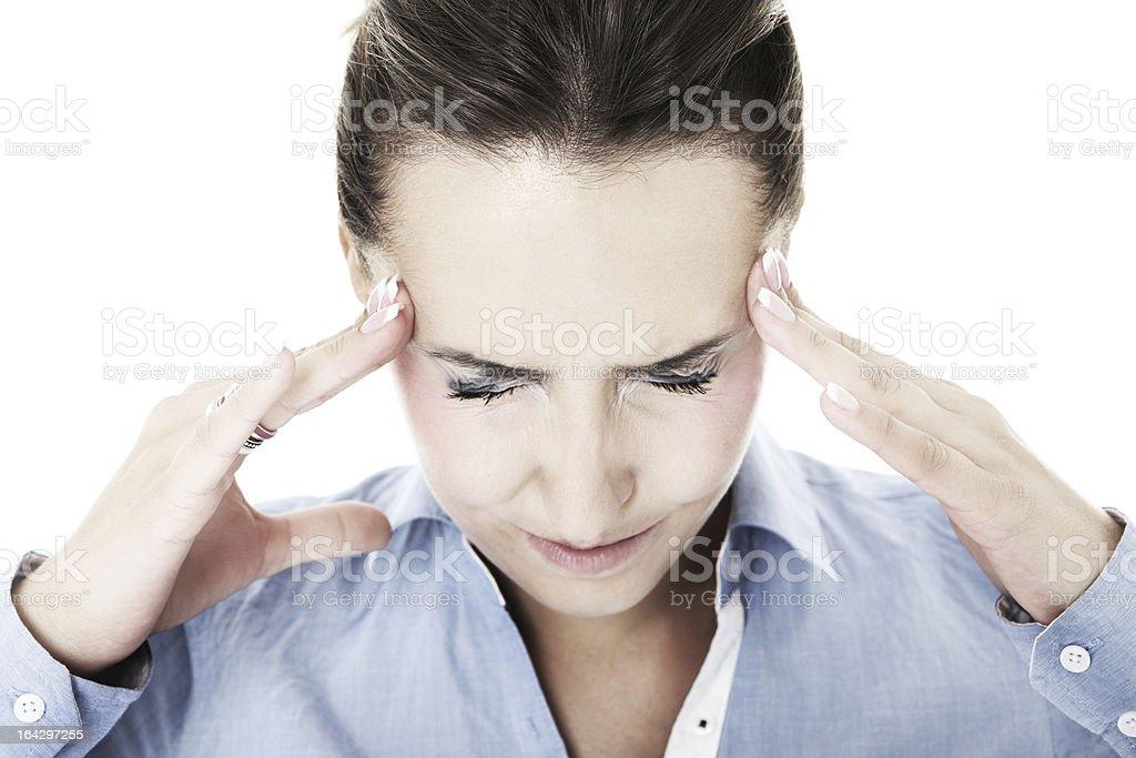Severe headache royalty-free stock photo