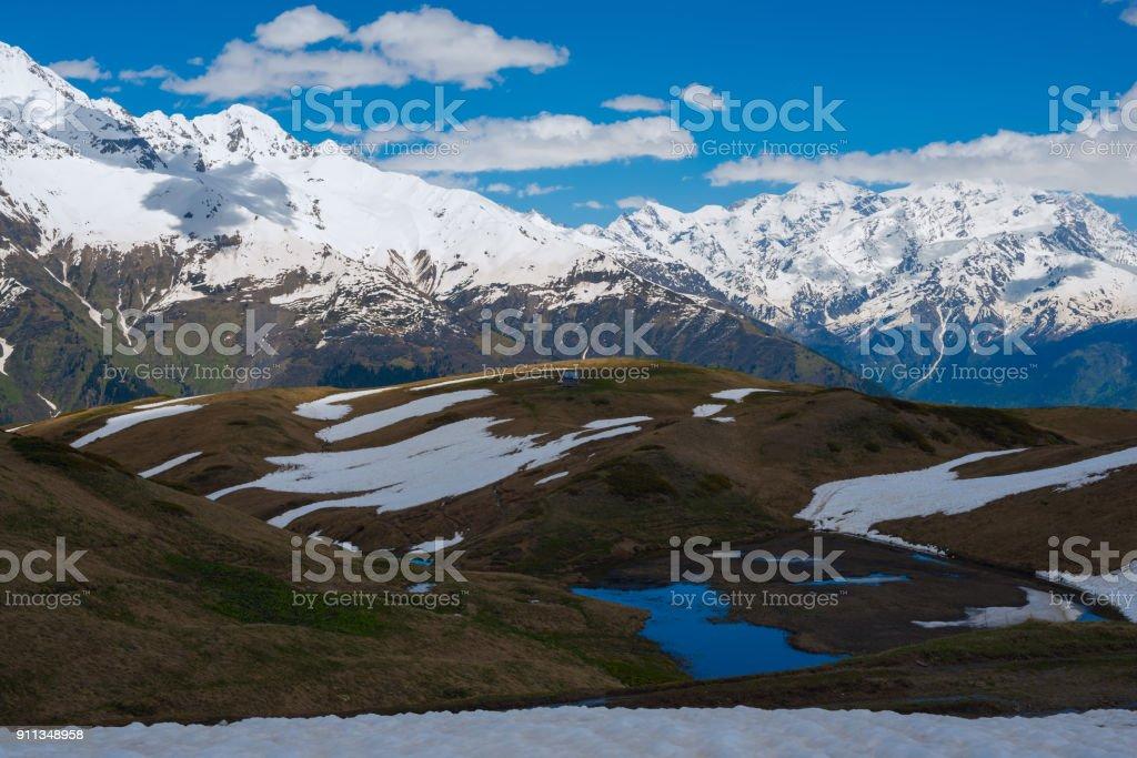 Severe mountain scenery stock photo