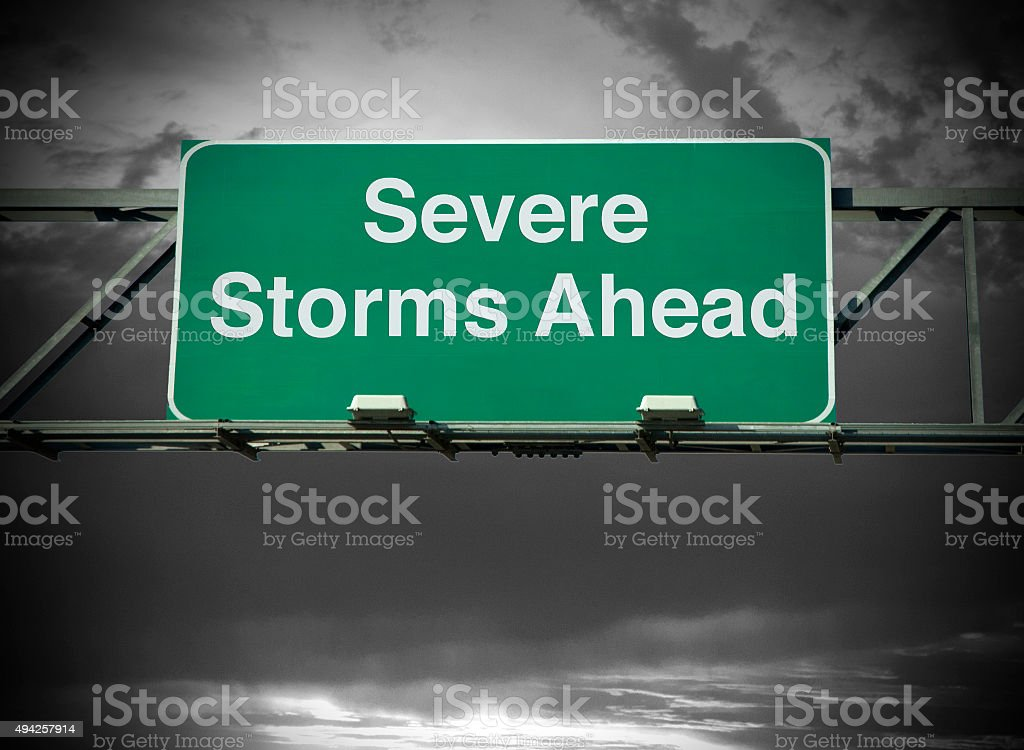 Severe Storms Ahead stock photo