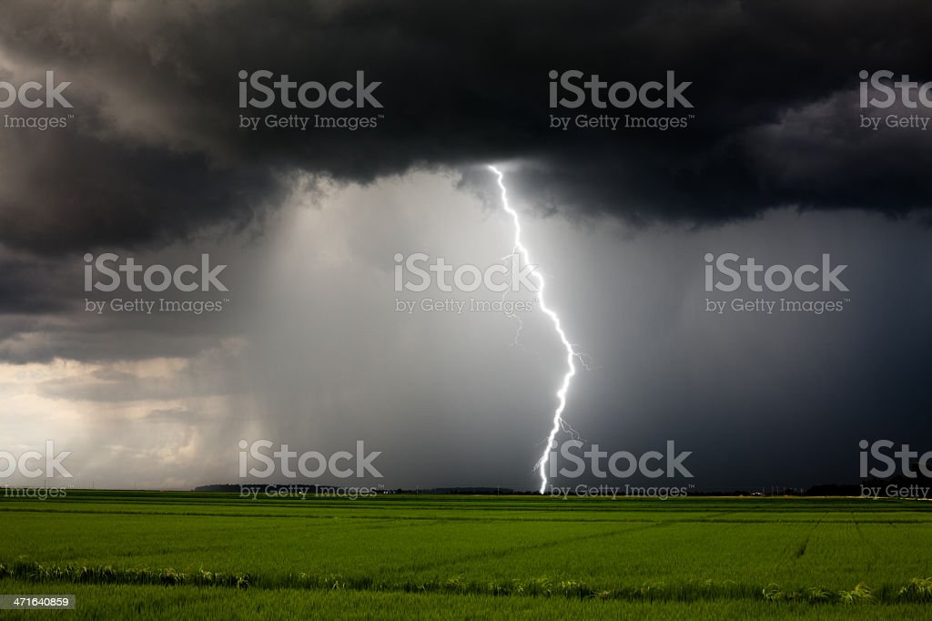 A severe thunderstorm and lightening​​​ foto