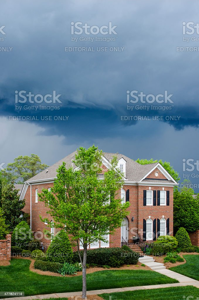Severe Weather with a Tornado Warning stock photo
