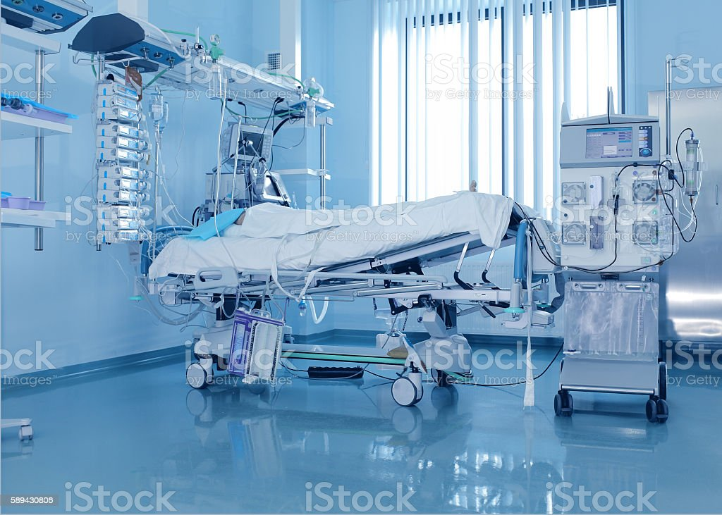 Severely ill patients and the dialysis machine – Foto
