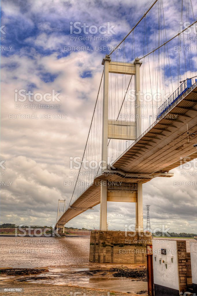 Severn bridge stock photo