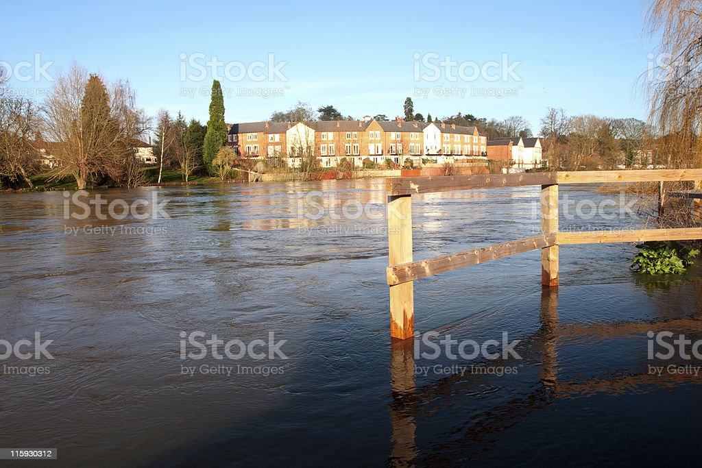 Severn Flood stock photo