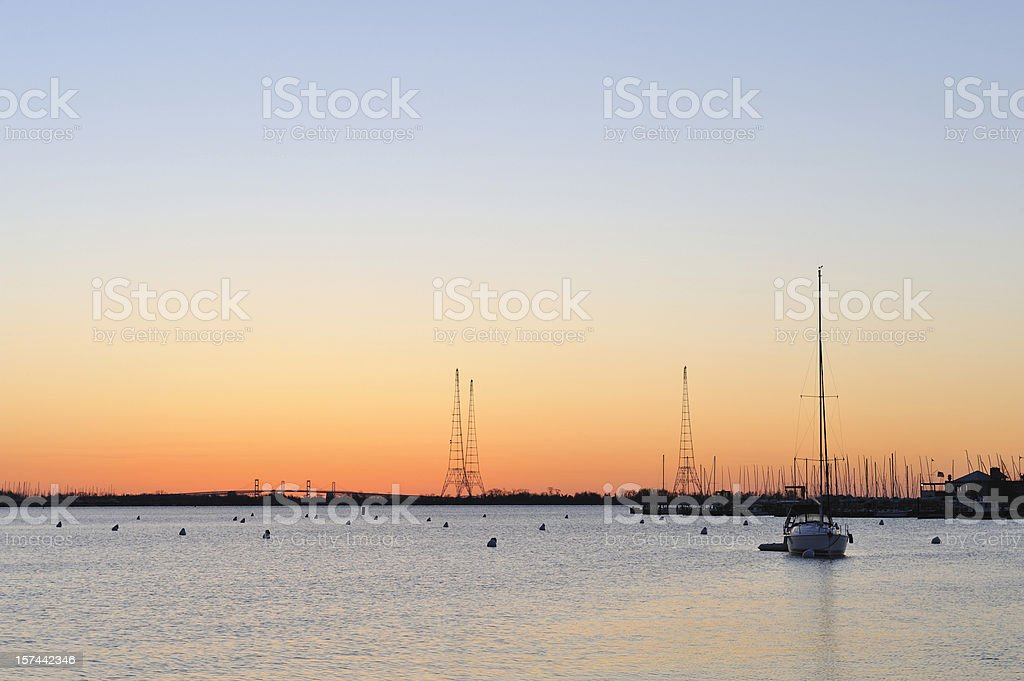 Severn River Sunrise stock photo