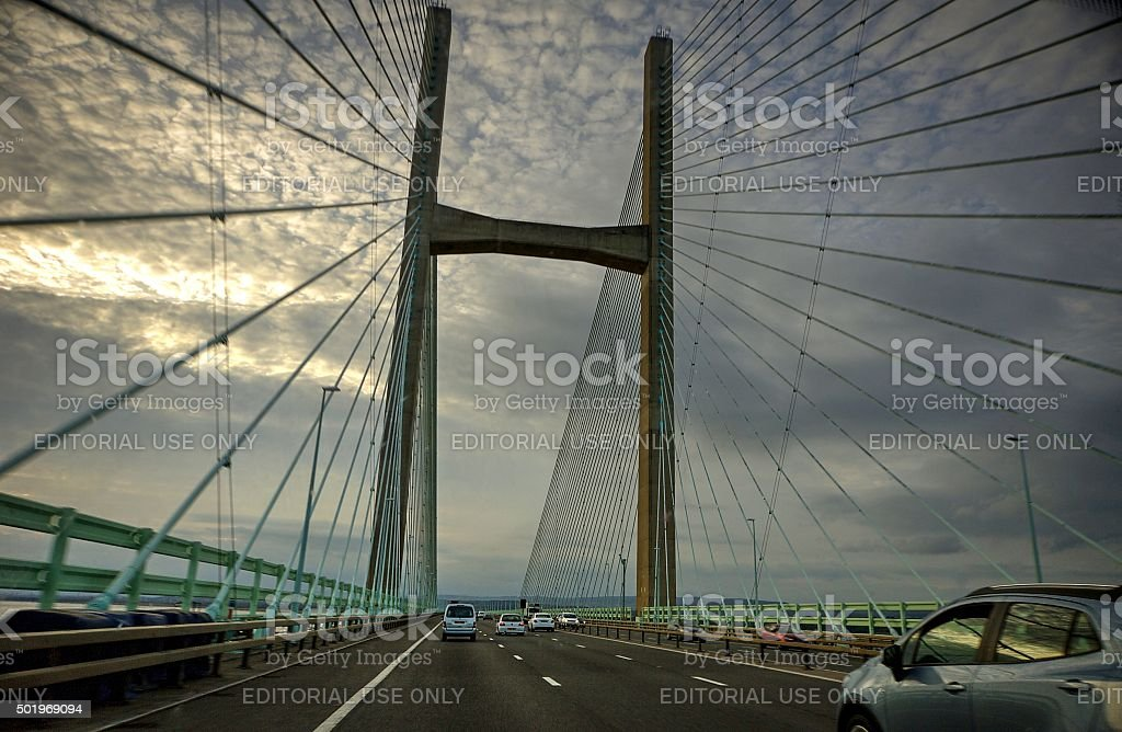 Severn Suspension Bridge England , Uk stock photo