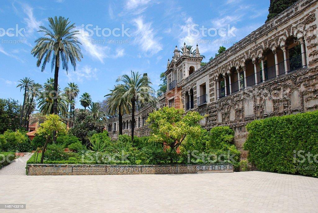 Sevilla Alcazar royalty-free stock photo