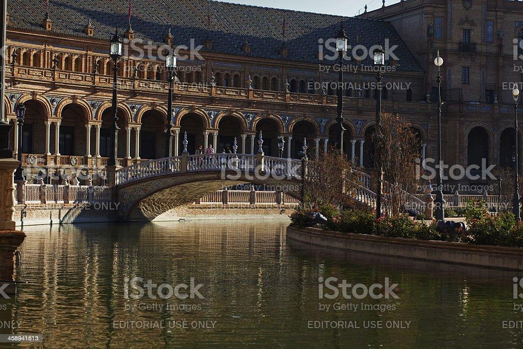 Sevilla at sunset royalty-free stock photo