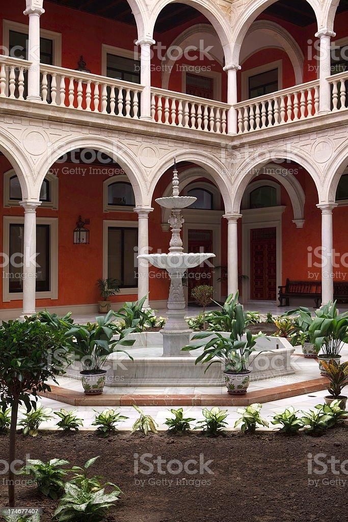 sevilla courtyards royalty-free stock photo