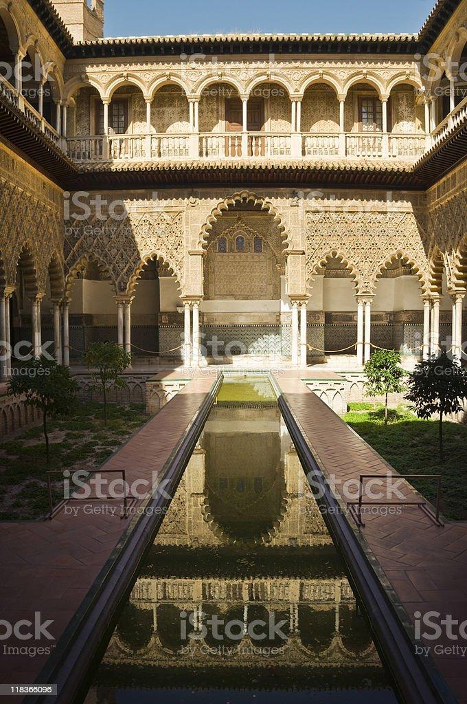 Sevilla's Alcazar royalty-free stock photo