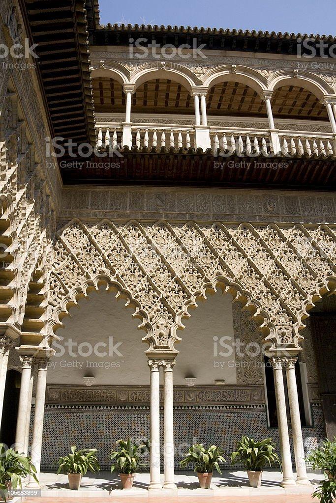 Seville Alcazar - Patio de las Doncellas stock photo