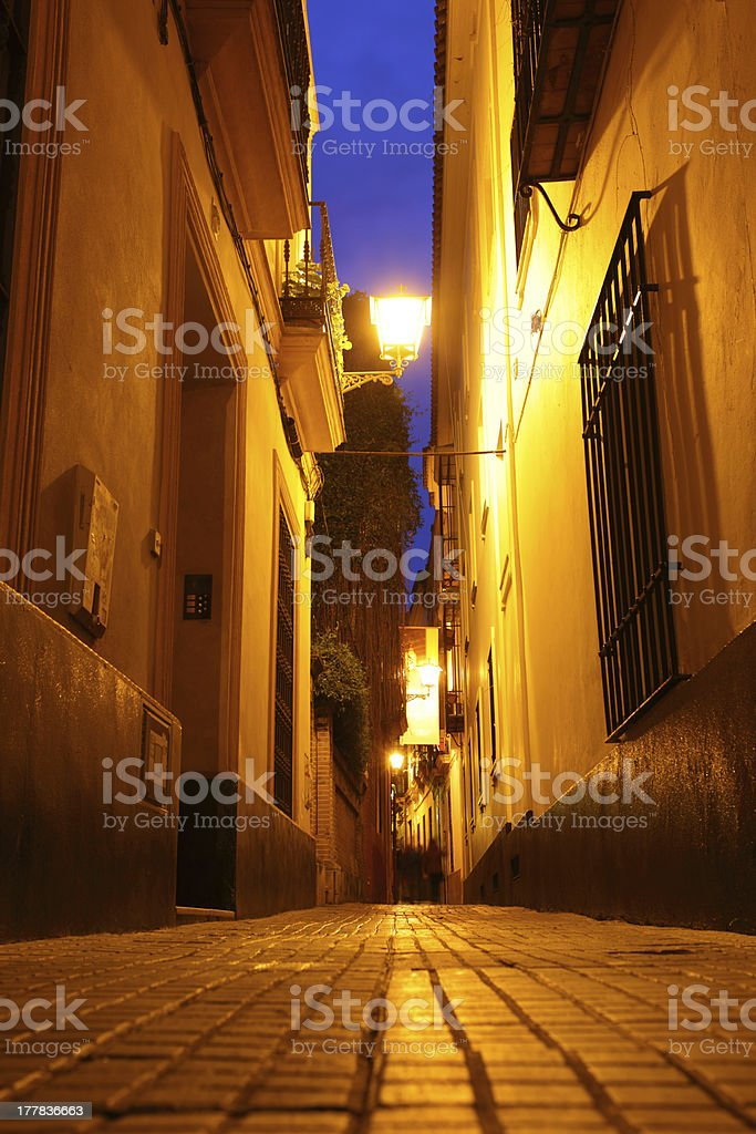 Seville at night royalty-free stock photo