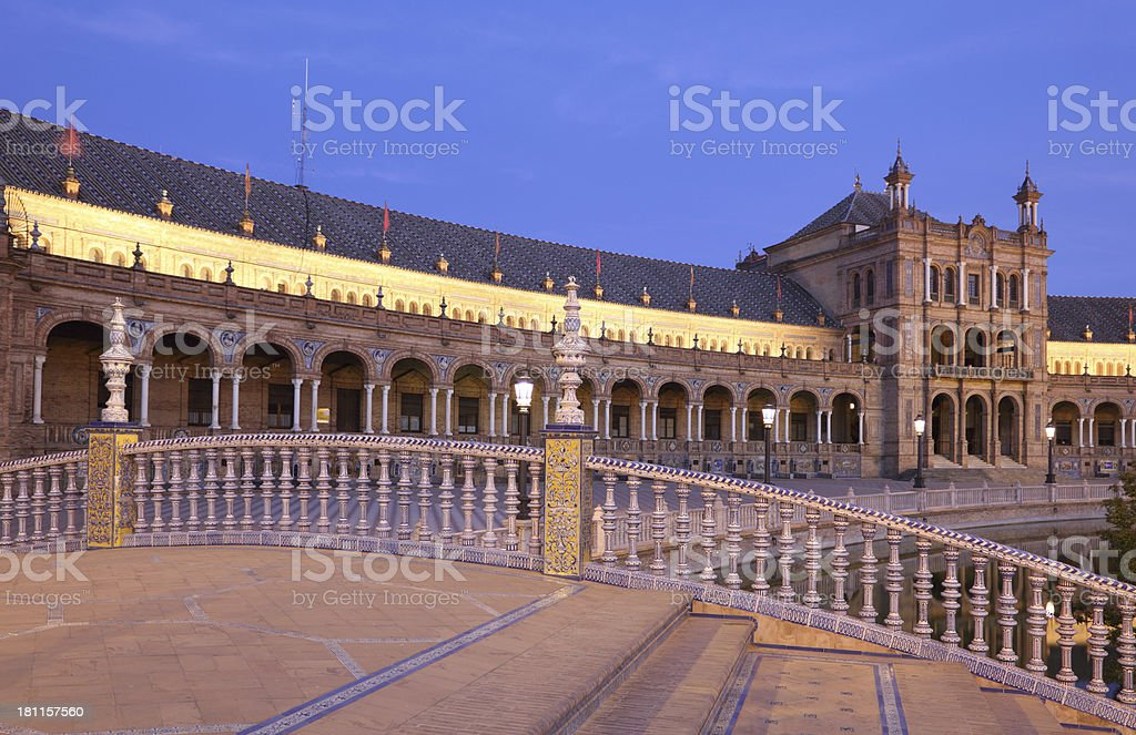 Seville at night, Spain royalty-free stock photo
