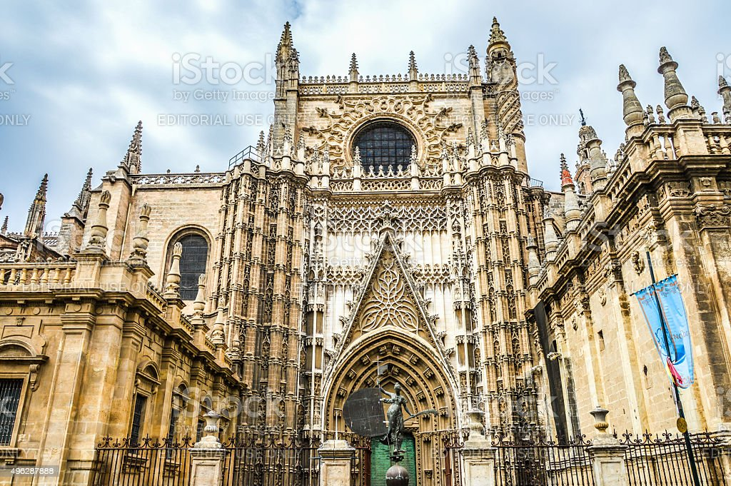 Seville Cathedral Exterior stock photo