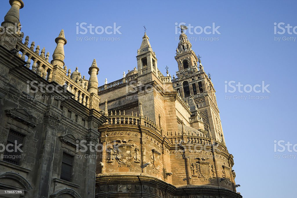 Seville Cathedral in Andalucia, Spain royalty-free stock photo