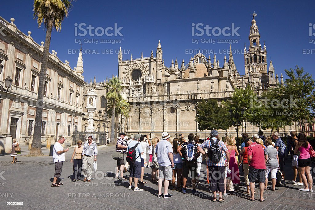 Seville Cathedral in Andalucia, Spain stock photo