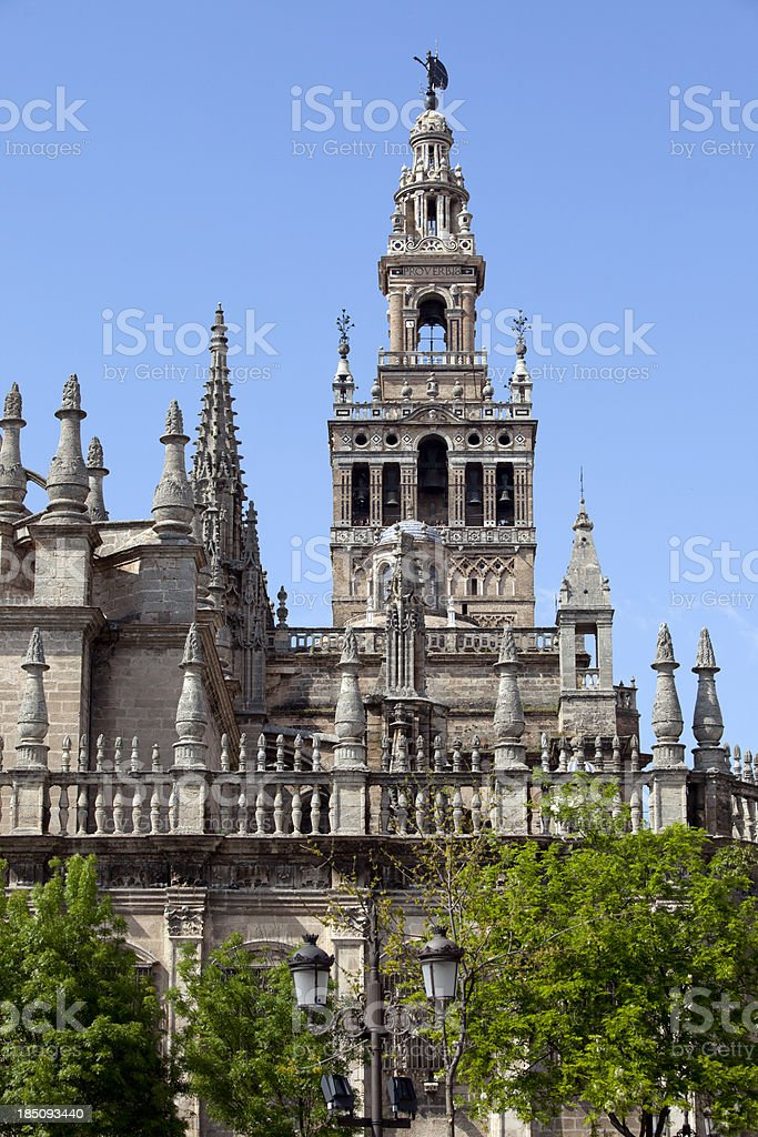Seville Cathedral in Spain stock photo