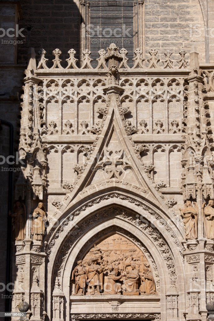 Seville Cathedral Ornamentation stock photo