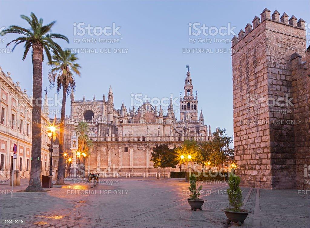 Seville - Cathedral Santa Maria de la Sede stock photo
