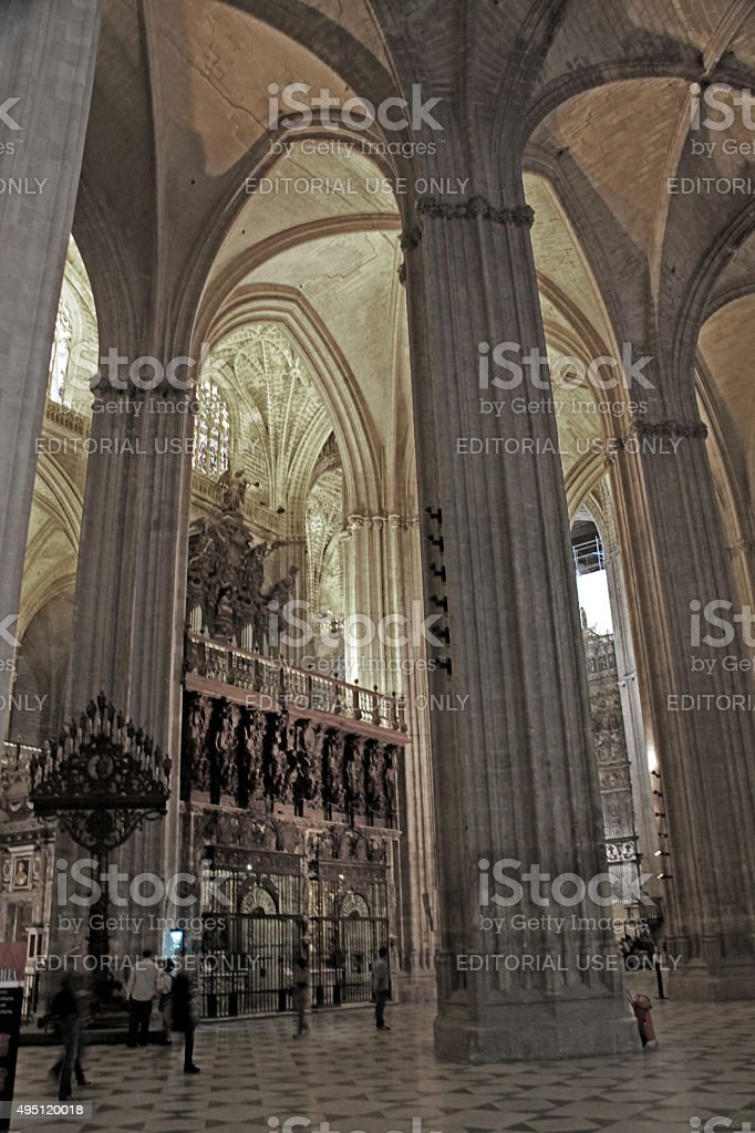 Seville Cathedral, Seville, Spain stock photo